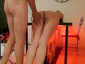 Sexy flogging with different accessories and sex