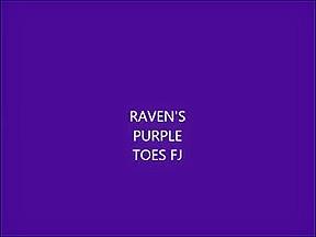 Purple Toes Footjob