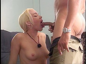 Golden-Haired doxy doing a hard anal fucking