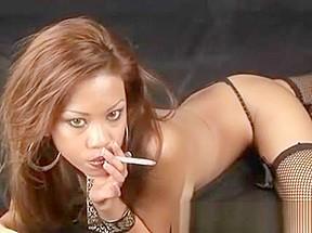 Gal smoking hungry xxx...