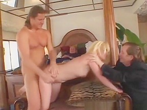 Blonde wife fucked real good doggy style