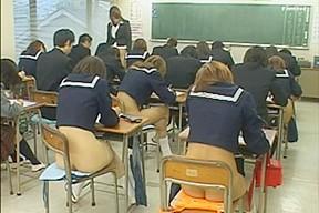 Public sex with hot Asian schoolgirls during an exam