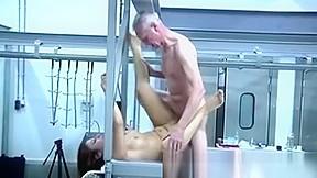 Horny Grandpa Fucks Beautiful Redhead Teen At Her Work