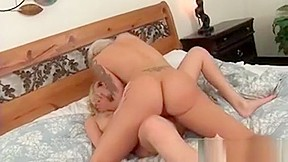 Cougar sharing massive dildo...