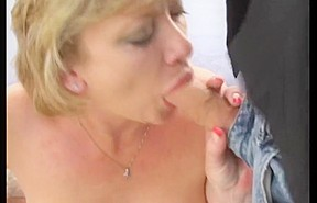 Sexy Cougar Does 2 Guys