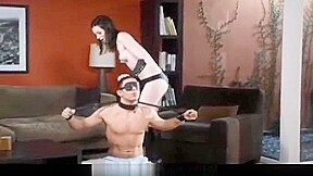 Naughty dominatrix punishes her new man...