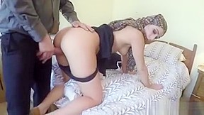 Girl hard on bed...