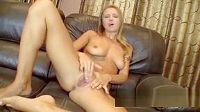 Milf Alina Long Masturbates Her Shaved Pussy.