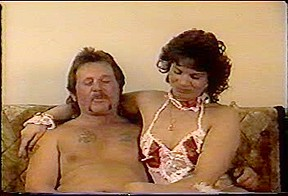 Couple in their first vintage porn vid...