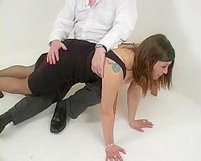 Naughty woman spanked hard...
