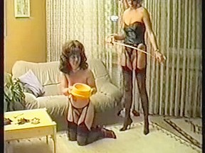 Classic bdsm with a mature brunette...