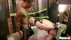 Muscle slave anal sex and cumshot...