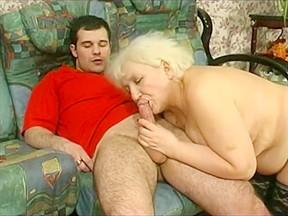 Granny louisa gets a creampie...