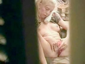 Sister fingering through window...