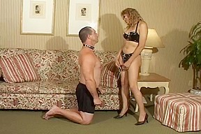 Latex keeps her lover on a leash...