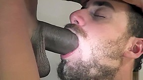 Gag by big cock...