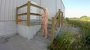 Sexy tricity lewis modeling nude outside...