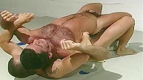 Liquid latex wrestling...