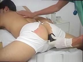 Medical examination image doctor give boy a shot...