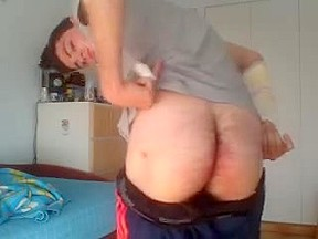 Sexy spanish young str8 bubble...