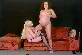 Lesbians with huge bellies good time...