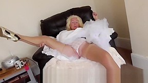 Upskirt and petticoats from a 64 granny...