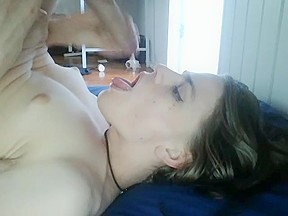Gives herself a blow job...