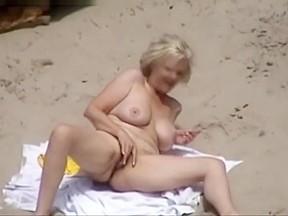 On nude beach...