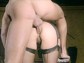 In seamed nylons ass...