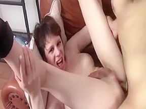 Cute selfsucks while being fucked...