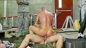 Sexy army men having muscular military and us...