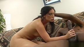 Babe goes balls deep cock...