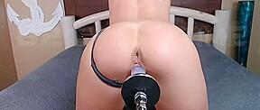 Slutty stepsister plug robot sex on cam...