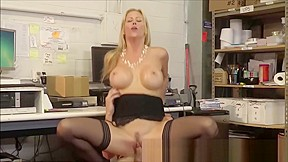Busty wife alexis fawx fucks hubbys young worker...
