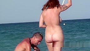 Naked amateur beach nudists sunbathing voyeur beach spy...