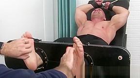 Feet fetish and tickling tormenting hun...