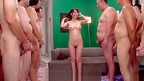 Jav milf kaho kasumi striptease for group of...