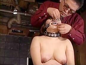 Jap got needles pierced lip to keep her...