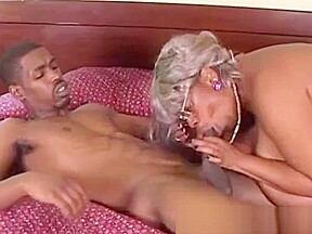 Bbw granny takes young big...
