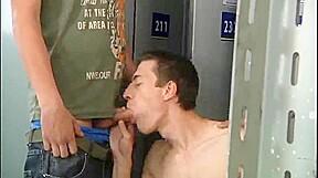 Homosexual Locker room Soaked Fuckfest