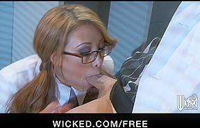 Naughty - Sexually Excited Oriental redhead Jayden ride's her boss's weenie