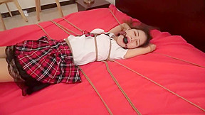 Bondage tickle chinese cute school girl...