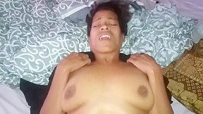 Ebony milf fucked from behind and pussy fart...