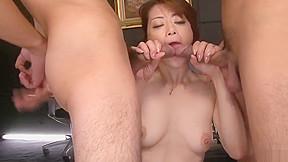 Maki hojo gangbang sex in rough office scenes...