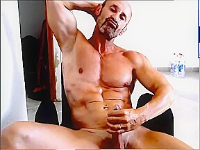 Daddy drips his load...