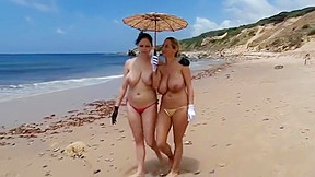 Look at beach topless today...