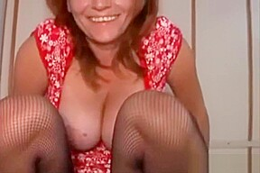 In stockings cant get enough cock...
