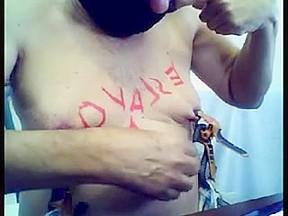 Punish a slave wax peg clothes spank...