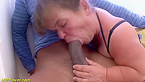 Big natural breast midget enjoys rough big black...