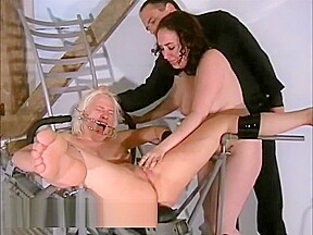 Two slaves bizarre pussy punishments and whipping to...